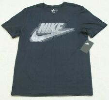 New Nike Obsidian Blue T-Shirt Cotton Tee Mans Solid Graphic Medium $25 MSRP