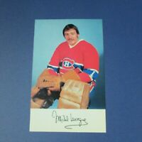 MICHEL LAROCQUE  1976-77  Montreal Canadiens team color postcard  1976 1977 RARE