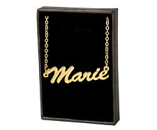 MARIE 18ct Gold Plating Necklace With Name - Bridal Jewellery Pendant Christmas