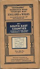 Vintage 1930 No 1 South East Counties Touring Map