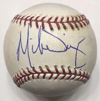 MIKE DIAZ Signed Autographed OML Baseball PSA DNA W15319
