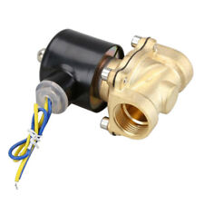 2W-200-20 3/4 Inch Brass Electric Solenoid Valve Water Air Fuels N/C DC 12V F6K6