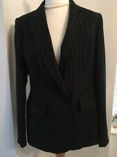 marks and spencer 14 Ladies Pinstripe Formal Jacket Nwtags MR7893