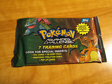 1x SEALED Pokemon TOPPS ADVANCED CHALLENGE Booster Card Pack From Box TCG 2004