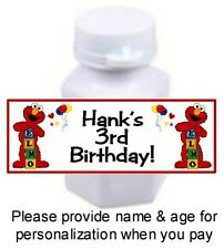 30 Elmo Birthday Party Or Baby Shower Mini Bubbles Bottle Stickers Favors