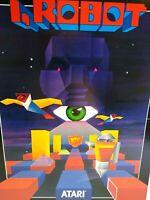 I Robot Arcade FLYER Atari Original 1984 NOS Retro Space Age Video Game Artwork