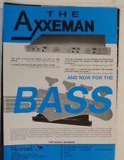 retro magazine advert 1988 NOMAD AXEMAN / BASSMAN