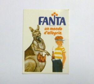 VECCHIO ADESIVO ORIGINALE / Old Original Sticker FANTA ARANCIATA (cm 6 x 8) f
