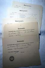 5 x altes Dokument Riga Lettland 1904-1909