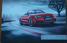 Audi RS5 Cabriolet Convertible Price & Specification Guide Brochure May 2013