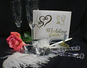 NEWEST Sleeping Beauty Price Disney Wedding Theme Glasses Knife Guest Book Lot