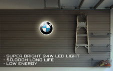 BMW LED ILLUMINATED SIGN, WALL MOUNTED LIGHT BOX for Garage, Man Cave, M Sport,