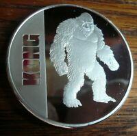 2021 KONG Niue 1 oz .999 Silver Coin Round Godzilla Vs. Kong Movie BU
