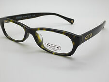 321bab72ca NEW COACH HC 6032F Becca 5001 Dark Tortoise 53mm RX Eyeglasses w  Case