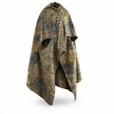 Issued European Military Surplus German Army Flecktarn Rain Poncho Half Shelter
