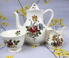 "Vintage Wedgwood Etruria & Barlaston ""Queens Sprays"" COFFEE SET: Pot Jug Bowl."