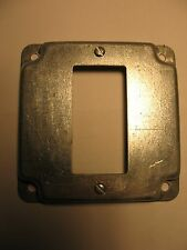 """Steel City RS 16 CC Square Box Cover, Steel, 4"""" x 4"""""""
