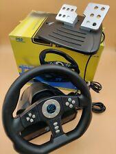 Pelican Cobra TT Racing Steering Wheel & Pedals Sony PS2 Controller w/ Box!!!!!!