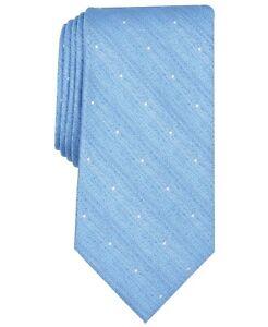 Perry Ellis Men's Light Blue Burro Dot Classic 3.25'' Tie