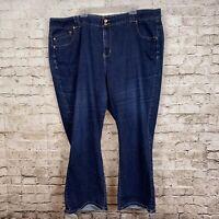Lane Bryant Jeans 28 Average Straight Tighter Tummy Technology Blue Dark Wash