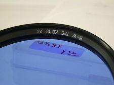 Original B + W Azul Blue corrección correction filtro lens cámara 72mm 72 e72 (7)