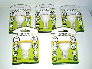 (5 Pack) Luceco MR16 3.5W/25W Bulb. 260lm LED Bulb. Non Dimming Warm White