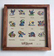 LE 100 Japan Disney Store 12 Pins Frame Year of the STITCH Lilo Frog Duck Sparky