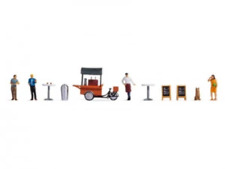 More details for noch 16230 ho/oo gauge at the coffee stall themed figure set