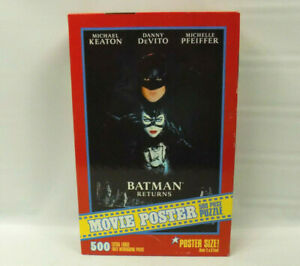 1992 Milton Bradley Batman Returns Movie Poster 500 Piece Jigsaw Puzzle READ DES