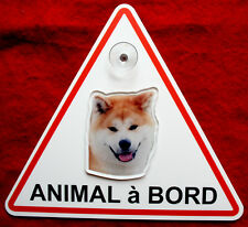 plaque animal à bord à ventouse chien akita inu 2 dog hund perro cane