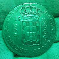 960 Reis 1810 R Brazilien  auf 8 REALES Spanische Kolonie