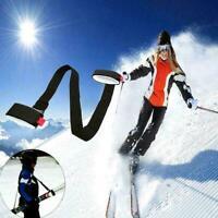 Adjustable Ski Pole Carrier Hand Whip Handle Shoulder Loop Hook Porter Stra