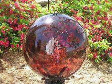 """Gazing Ball New Glass Globe 10"""" Purple"""