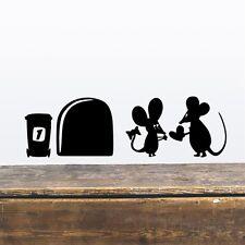 Mäuseloch Maus Käse Wandtattoo Wallpaper Wand Schmuck 14,8 cm Love Heart Herz