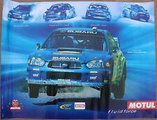 AFFICHE MOTUL SUBARU WRC STI SWRT WRX FRANCE CANADA JAPAN WORLD RALLYE TEAM