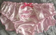 """🌸MADE TO ORDER* Personalised EMBROIDERED """"SATIN SISSY"""" Knickers any colour🌸"""