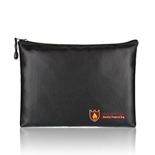 Fireproof Document Bags, A4 Size Waterproof and Fireproof Bag with Fireproof for