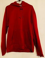 Mens Red/Maroon And Black Under Armour Hoodie Pullover Long Sleeve Large