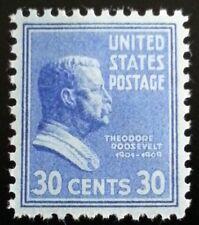 1938 30c Theodore Roosevelt Jr., 26th President Scott 830 Mint F/Vf Nh