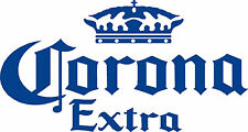 2 Corona Cornhole Baggo Bags Game Bean Bag Toss Decals Stickers Lg 20w x 10h NEW