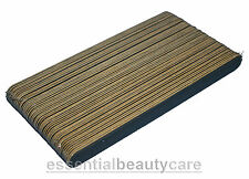 50 x BLACK BEAUTY NAIL FILES EMERY BOARDS GRIT 240/240 The Edge