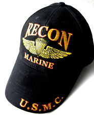 USMC US MARINES MARINE CORPS FORCE RECON EMBROIDERED BASEBALL CAP HAT