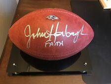 Balitmore Ravens gameday football signed by John Harbaugh