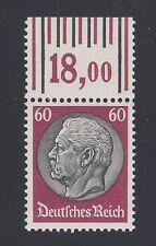 Germany Sc 412 MNH. 1933 60pf Pres. von Hindenburg Sheet Margin Single, VF