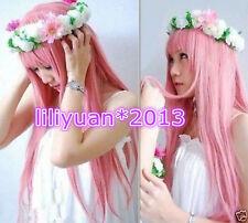 Megurine Luka Cosplay Wigs Pink Full Party Hair Lolita Japan Anime wig