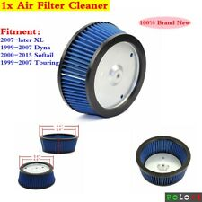 1x Blue Motorcycle Air Intake Filter Cleaner For Harley Davidson XL 2007-later