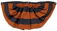 "Orange and Black Bunting Halloween Decor Farmhouse Primitive 37"" x 15"""