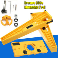 Concealed Hinge Jig Drill Guide & Drawer Slide Mount DIY Cabinet Hardware