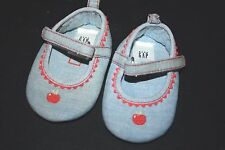 Baby Gap Shoes size 0-3 months Apple Ballet Flats Girls Infant Crib Shoes   -Q