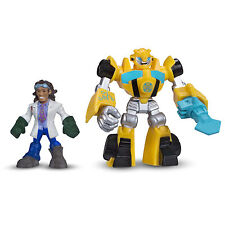 Playskool Heroes Transformers Rescue Bots BUMBLEBEE & DOC GREENE Figures